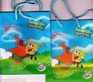 2 Spongebob Patrick Mini Gift Bags Birthday Party Supplies