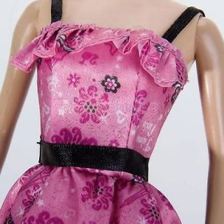 Summer Floral Dress Skirt Party Clothes for Barbie Doll Gorgeous Clothing Sets