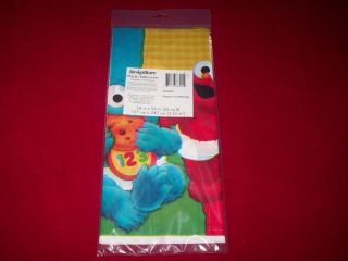 New Sesame Street Elmo 1st Birthday Party Plastic Tablecover Table Cloth 54 x 96