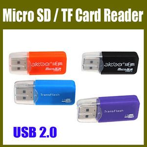 New Mini Hi Speed USB 2 0 Micro SD TF Trans Flash Memory Card Reader Writer