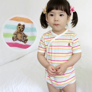 Made in Korea New Rainbow Bear Baby Boy Girl Infant Cotton Clothing WBA 1039