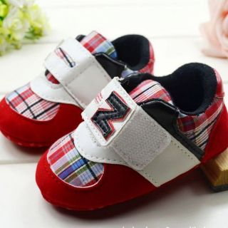 Baby Boy Girl Soft Sneakers Colorful Plaid Crib Shoes Size 0 12 Months CA3078