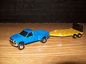 Ertl 1 64 Tractor Ford F350 Pickup Truck Dually with Flatbed Trailer Farm Toy