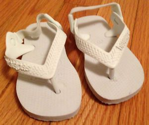 Havaianas Infant Baby Toddler White Sandals Water Flip Flops Shoes EUR 21 US 5