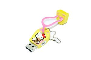 Hello Kitty Flip Flop 8GB USB Flash Drive Thumb Pen Memory Stick Novelty Yellow