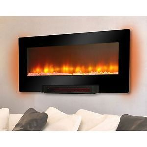 Grand Aspirations Electric Flat Panel Infrared Wall Mount Fireplace Heater