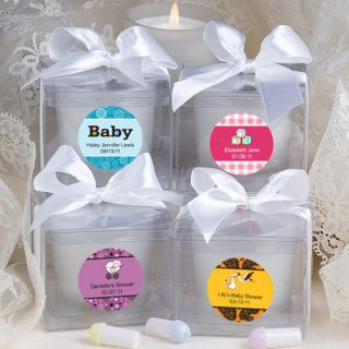 60 Personalized Baby Shower Candle Favors