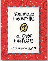 Leanin Tree Kid Quips You Make Me Smile All Over My Face Note Cards Pkg 8