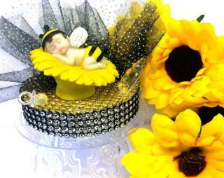 Bumble Bee Baby Cake Topper Favor Decoration Baby Shower or 1st Birthday Party