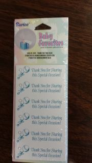 Thank You Baby Shower Favor Tags Blue 24 Pieces