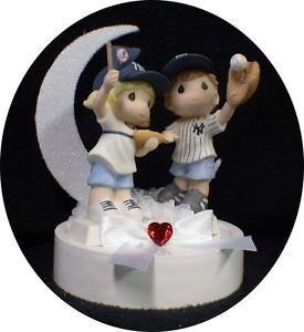 New York Yankees Baseball Fans Wedding Cake Topper Fun Soft Ball Sports