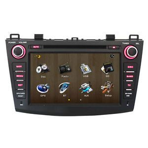 "8"" LCD Car GPS Navigation DVD Player Radio Stereo Unit for Mazda3 2010 2011 2012"