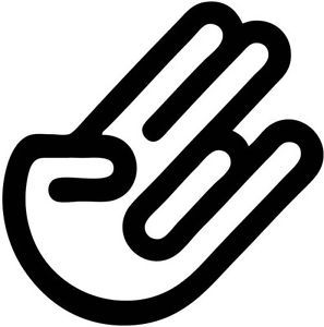 Hand Sign Shocker Vinyl Decal Sticker Car Truck