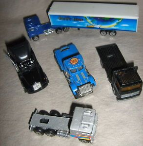 Lot Die Cast Trucks Tractor Trailer Semi Flatbed Cement Maisto Matchbox 70s 90s