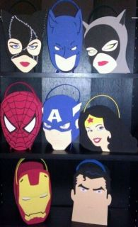 Super Heroes Batman Spider Man Captain America Wonder Woman Party Favors Bags