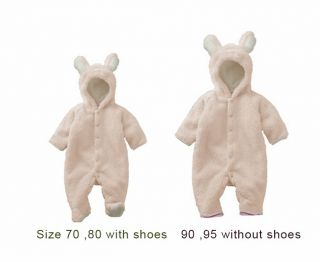 Baby Girls Boys Baby Animal Bear Romper Winter One Piece Pajamas Coats Snowsuits