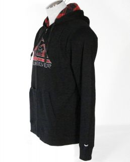 Quiksilver Mens Hooded Jacket Sweatshirt Hoodie