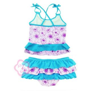 Girl Ariel Mermaid Swimwear Kid Bathing Suit Swimsuit Swim Costume Sz 3 4 5 6 7
