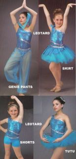 Dance with Me Mix Match Pieces Jazz Tap Dance Costume Size Choice