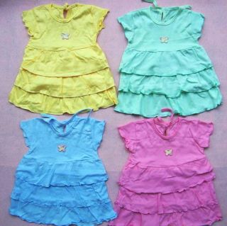 1 x Baby Girl Cake Party Dress Clothes 9 18M A19