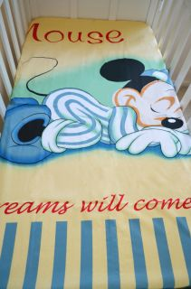 Baby Bedding Crib Cot Sets Sleeping Mickey Mouse Theme RRP $150