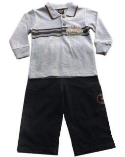 Harley Davidson Infant Toddler Boys 2 PC Cargo Outfit Set Apparel 12 18 24 MO