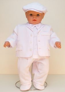 New Baby Boy Wedding Pageboy Suit Formal Christening Outfit Snow White 0 24M