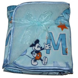 "Disney Mickey Mouse Baby Soft Plush Blanket 29"" x 29"" Cozy Cuddly"