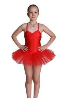 Toddler Girls Ballet Dance Recital Stretchy Leotard Pink Red Tutu 3T 4T 5 6