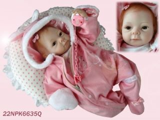 "New Arrival 22"" Baby Soft Silicone Reborn Children Toys Dolls for Christmas"