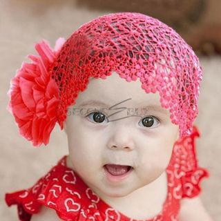Infant Baby Girls Net Design Flower Headband Head Band Hairband Hair Accessories