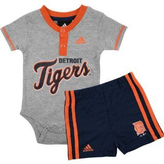 Detroit Tigers Newborn Infant Baby Creeper Jersey and Shorts Set by Adidas