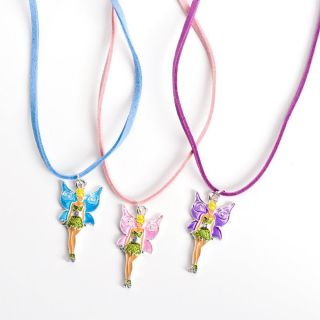 Tinkerbell Necklace Pink Purple Blue Set of 3 Fairy Party Favors Wholesale