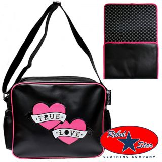 True Love Tattoo Nappy Bag Cool Kustom Punk Rockabilly Retro Gothic Baby Diaper