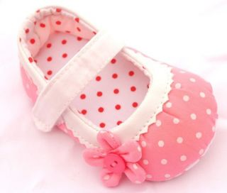 Pink Mary Jane Infant Toddler Baby Girl Shoes Size 2 3 4