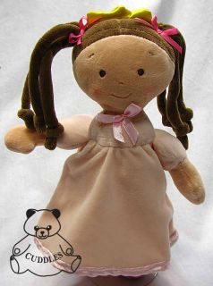Little Princess Doll North American Bear Co Plush Toy Stuffed Animal Brunette SM