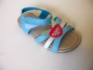New Infant Toddler Girls Heart Pink Blue White Flip Flops Sandals Shoes 6 11