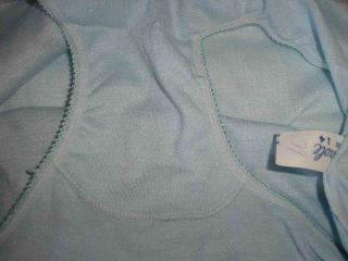 Sz XS New Baby Blue Vintage 70s Eiderlon Sparkle Soft Silky Full Cut Panties