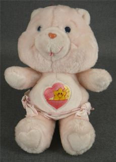 Vintage Care Bear Baby Hugs Plush '83 Pink Diaper Cub