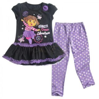 Girls Clothes Dora The Explorer Outfit Set Top Dress Leggings Pants 3 7 Years