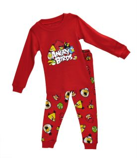 "Baby Toddler Kids Boy Sleepwear Cute Nightwear Pajama Set ""Angry Birds"" 2T"