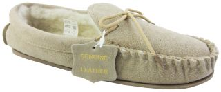Women Slippers Coolers Lodgemok Real Leather Suede Moccasin Comfort Lined