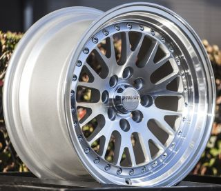 15x8 5 Redline 4x100 Silver Wheel Fit Honda CRX Del Sol Fit Civic SI EK6 EK9 Rim