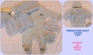 Premature Early Prem Baby Boys Small Baby Clothing Outfit 5 8 lbs or Reborn Baby