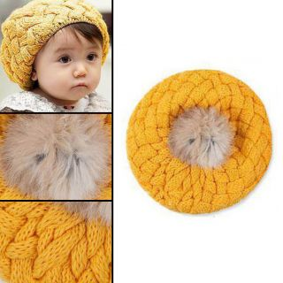 Cute Baby Kids Girls Boys Toddler Winter Warm Knitted Crochet Beanie Hat Cap