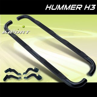 Hummer 06 10 H3 Black Side Step Nerf Bar Running Board Set Pair New LH RH Humvee
