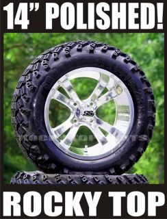 "14"" Golf Cart Wheels and 23 10 14 All Terrain Tires"