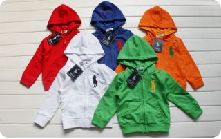 Infant Boy Girl Baby Polo Ralph Lauren Hoodie Jacket Coat Full Zip Sweatshirt