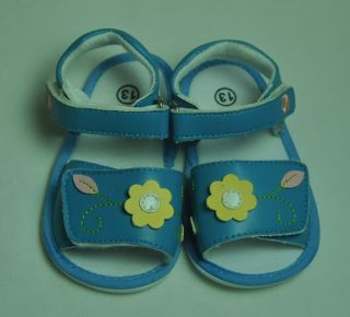 Baby Boy Girl Blue Sandals Shoes 6 18 mths Sz4 13cm