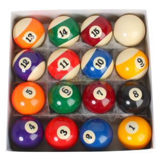 Billiards Pool Table Ball Set Standard 2 1 4 inch or 2 25 Reg Size Full Set New
